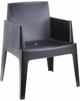 Chaise design ´PLEMO´ noire en matière plastique