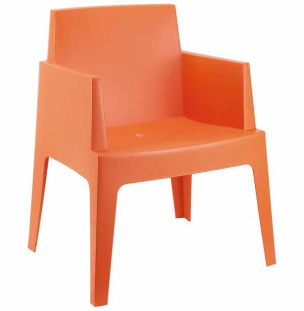 Chaise Design PLEMO Orange En Matire Plastique