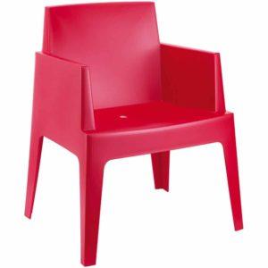 Chaise design ´PLEMO´ rouge en matière plastique 300x300 - Chaise design ´PLEMO´ rouge en matière plastique