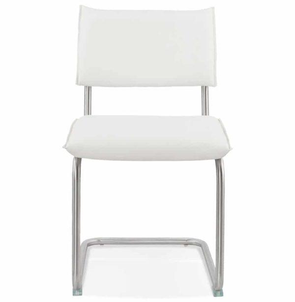 Chaise-design-´SCHOOL´-en-matière-synthétique-blanche-1