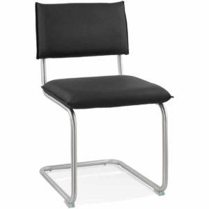 Chaise design ´SCHOOL´ en matière synthétique noire 300x300 - Décoration pas chère et moderne