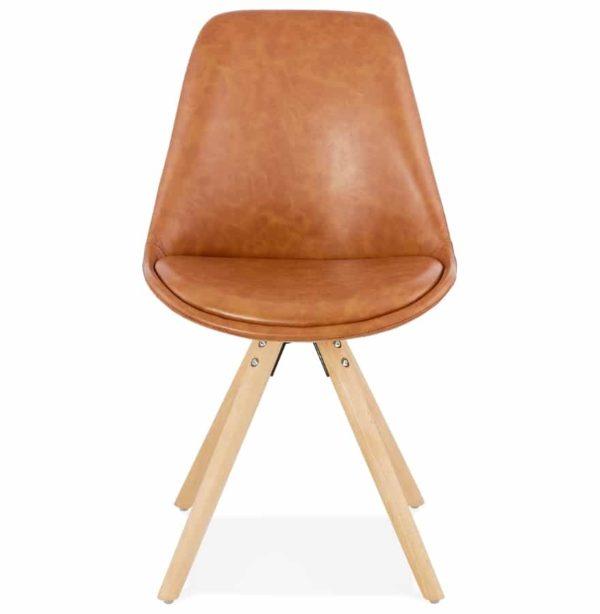 Chaise-design-´STREET´-en-matière-synthétique-brune-1