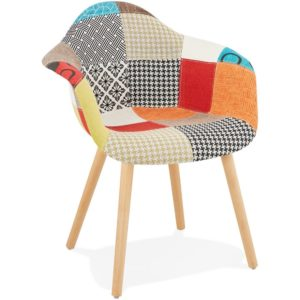 Chaise design avec accoudoirs ´RAMBLA´ style patchwork 300x300 - Décoration pas chère et moderne
