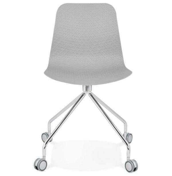 Chaise-design-de-bureau-´SLIK´-grise-sur-roulettes-1