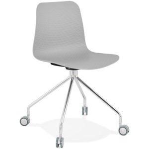 Chaise design de bureau ´SLIK´ grise sur roulettes 300x300 - Chaise design de bureau ´SLIK´ grise sur roulettes