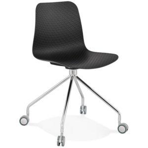 Chaise design de bureau ´SLIK´ noire sur roulettes 300x300 - Chaise design de bureau ´SLIK´ noire sur roulettes