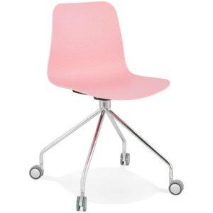 Chaise design de bureau ´SLIK´ rose sur roulettes 300x300 - Chaise design de bureau ´SLIK´ rose sur roulettes
