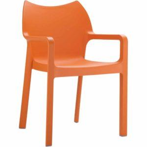 Chaise design de terrasse ´VIVA´ orange en matière plastique 300x300 - Décoration pas chère et moderne
