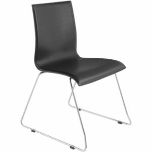 Chaise design noire ´KYRA´ en matière synthétique