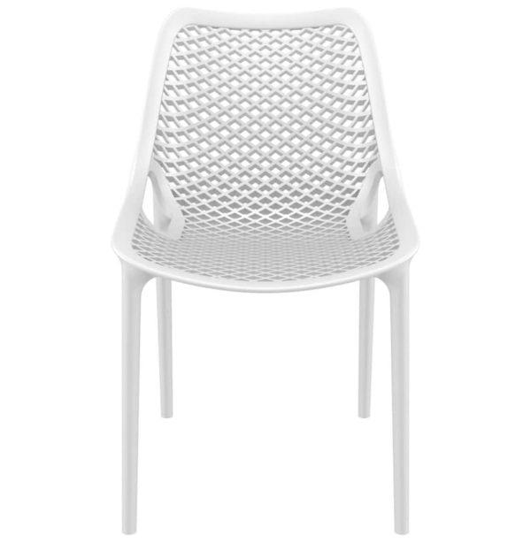 Chaise-moderne-´BLOW´-blanche-en-matière-plastique-1