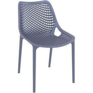 Chaise moderne ´BLOW´ grise foncée en matière plastique