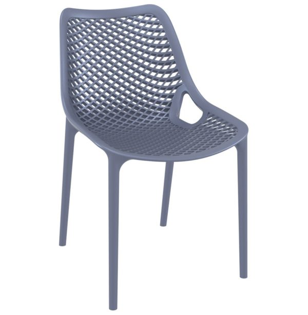 Chaise Moderne BLOW Grise Fonce En Matire Plastique