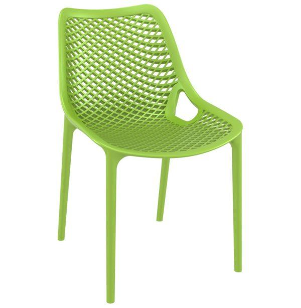 Chaise moderne ´BLOW´ verte en matière plastique