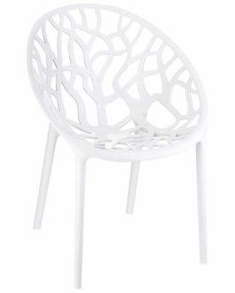Chaise moderne ´GEO´ blanche en matière plastique