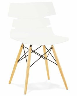 Chaise moderne ´SOFY´ blanche style scandinave