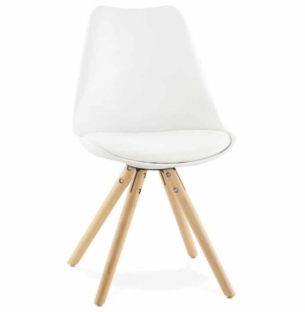 Chaise scandinave ´GOUJA´ blanche
