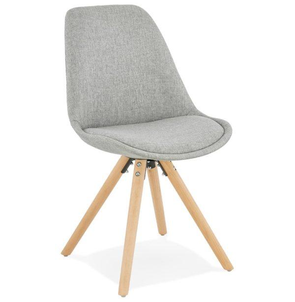 Chaise scandinave ´HIPHOP´ en tissu gris