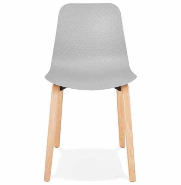 Chaise-scandinave-´PACIFIK´-grise-avec-pieds-en-bois-finition-naturelle-1