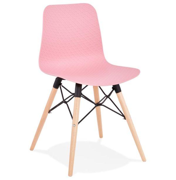 Chaise scandinave ´TONIC´ rose design