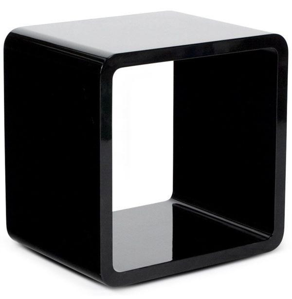 Cube de rangement ´KUBIC´ noir empilable