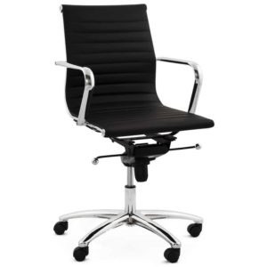 Fauteuil de bureau design ´MEGA´ en matière synthétique noire 300x300 - Fauteuil de bureau design ´MEGA´ en matière synthétique noire