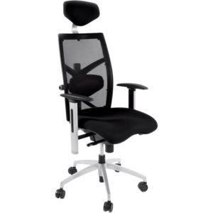 Fauteuil de bureau ergonomique ´OSLO´ en tissu noir 300x300 - Fauteuil de bureau ergonomique ´OSLO´ en tissu noir