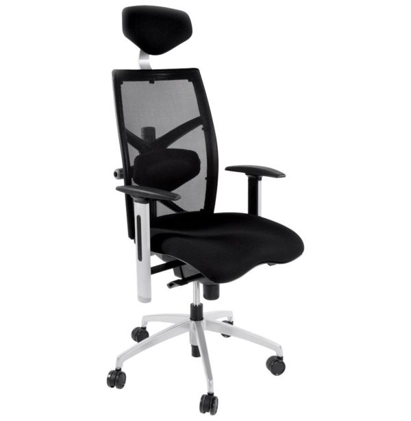 Fauteuil de bureau ergonomique ´OSLO´ en tissu noir
