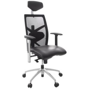 Fauteuil de bureau ergonomique ´TOKYO´ en matière synthétique noire 300x300 - Mobilier Design et Scandinave