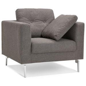 Fauteuil de salon 1 place ´SIXTY MINI´ en tissu gris très moderne 300x300 - Mobilier Design et Scandinave