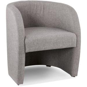 Fauteuil de salon design 1 place ´TOM´ en tissu gris
