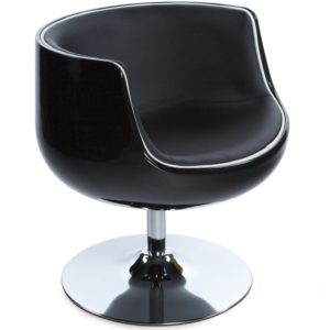 Fauteuil design ´DEKO´ boule rotatif noir