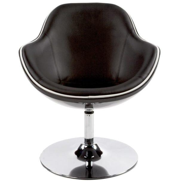 Fauteuil-design-´KOK´-pivotant-noir-style-retro-1