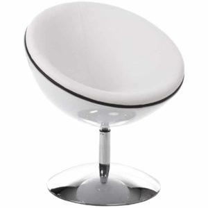 Fauteuil design boule ´SPHERA´ pivotant 360° blanc