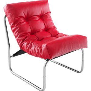 Fauteuil lounge ´LOFT´ rouge 300x300 - Mobilier Design et Scandinave
