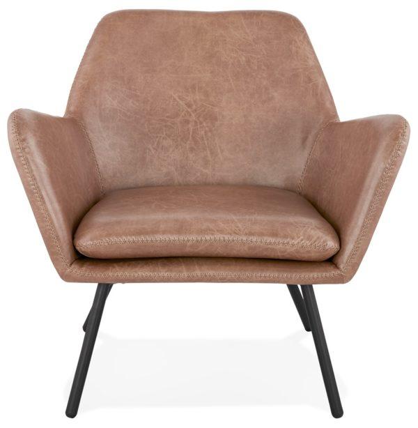 Fauteuil-lounge-design-´AMERIKA´-en-matière-synthétique-brune-1