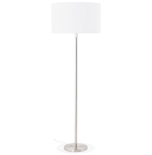 Lampadaire design ´LIVING BIG´ blanc réglable en hauteur