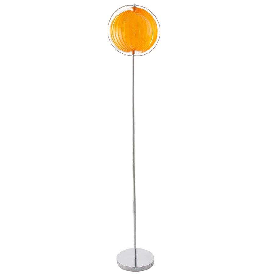 Lampadaire design ´LUNA´ orange avec lamelles en plastique flexibles