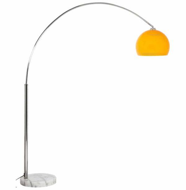 Lampadaire-design-en-arc-´BIG-BOW-XL´-abat-jour-orange-1