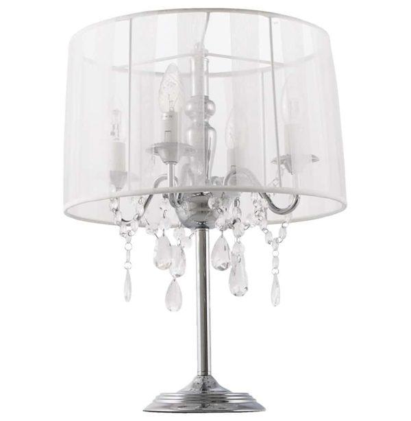 Lampe-de-chevet-´KLASSIK´-blanche-chandelier-baroque-à-pampilles-1