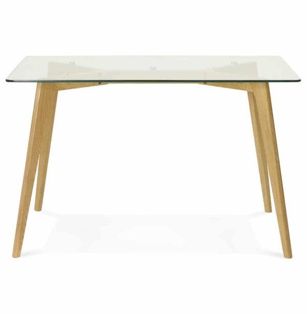 petite table bureau droit bugy en verre 120x80 cm. Black Bedroom Furniture Sets. Home Design Ideas