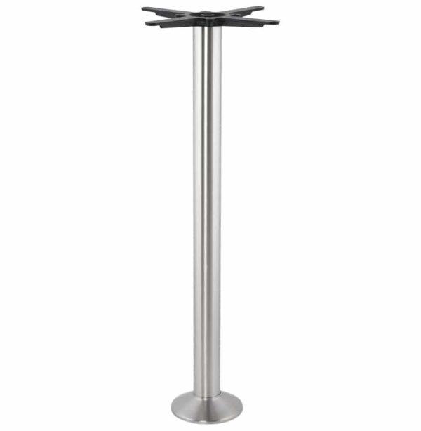 Pied-de-table-´PIKET´-110-cm-en-métal-brossé-à-base-ronde-1