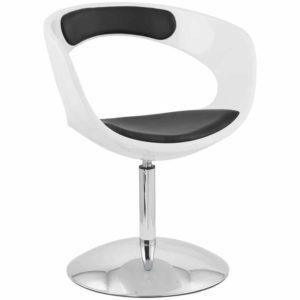 Siège design rotatif ´SPACE´ noir et blanc