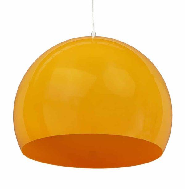 Suspension-boule-´ELMET´-en-matière-plastique-orange-1
