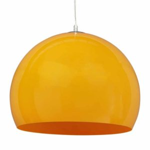 Suspension boule ´ELMET´ en matière plastique orange