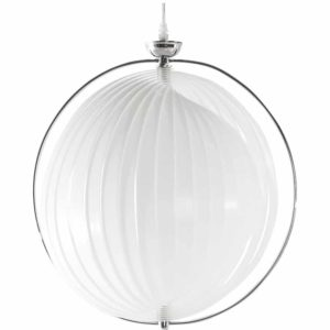 Suspension boule design ´LISA´ en lamelles flexibles blanches