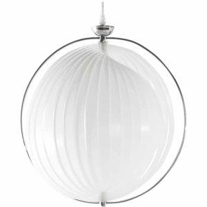 Suspension boule design ´LISA´ en lamelles flexibles blanches 300x300 - Décoration pas chère et moderne