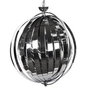 Suspension boule design ´LISA´ en lamelles flexibles chromées 300x300 - Suspension boule design ´LISA´ en lamelles flexibles chromées