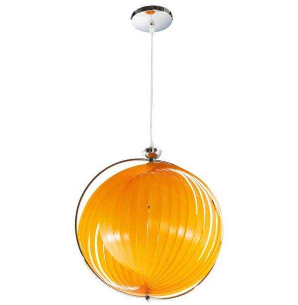 Suspension-boule-design-´LISA´-en-lamelles-flexibles-orange-1