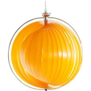Suspension boule design ´LISA´ en lamelles flexibles orange 300x300 - Décoration pas chère et moderne