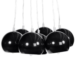 Suspension design ´BILBO´ 7 boules noires suspendues